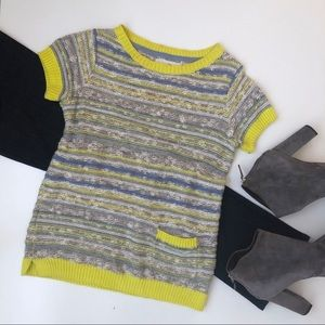 Anthropologie Giuliana Leila Yellow Sweater Tee